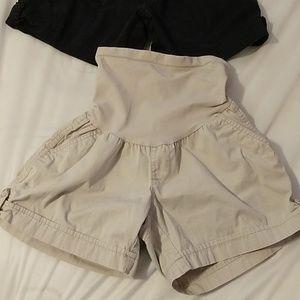 (2) Oh Baby Maternity shorts